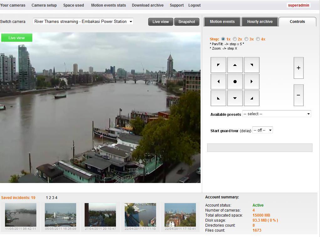 Remote Alert online camera hosting application for video streaming ...